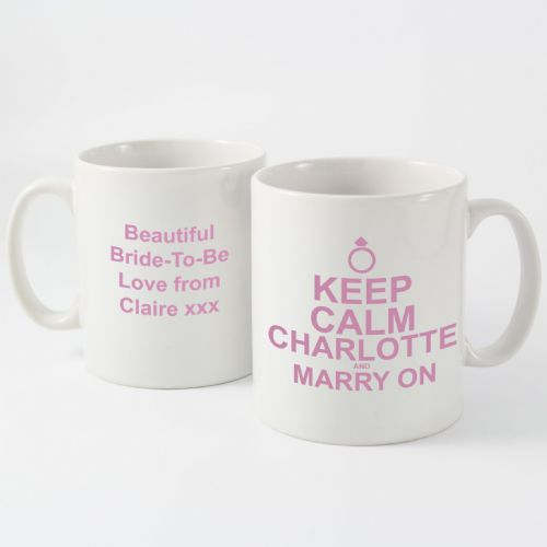 Personalised Keep Calm Marry On Mug